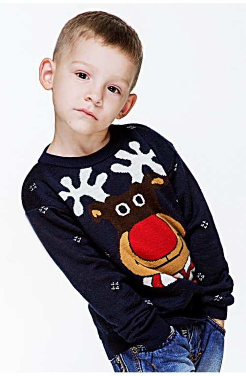 8da3350f8c807e Светр Різдвяний з зірками. Розмір: 116 134 98 146 . Колір: бордовий ...