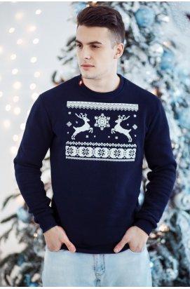 Свитшот Рождественский с оленями мужской