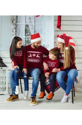 Светр з оленями - Сімейна колекція Новорічних светрів