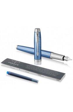 Ручка перьевая Parker IM 17 Premium Blue CT FP F 24 411