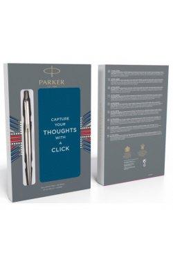 Набор ручек Parker JOTTER 17 SS CT BP + блокнот в подар.упаковке XMAS18 16 132b18