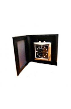 Часы Дорожные Travel Clock в черн. коже 67002