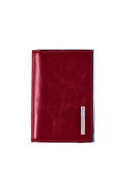 Визитница Piquadro BL SQUARE/Red для своих визиток на кнопке (10,8x7,5x1,5) PP1899B2_R