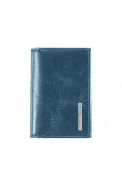 Визитница Piquadro BL SQUARE/P.Blue для своих визиток на кнопке (10,8x7,5x1,5) PP1899B2_AV2