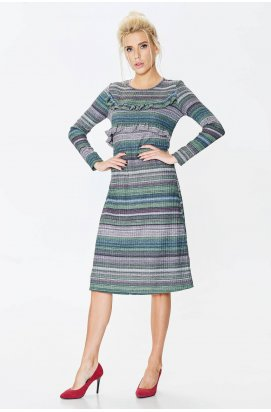 Платье 664-PW02 - Зеленый/полоска