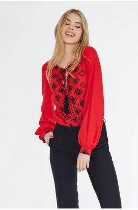 Блуза 526-PW01 - Красный