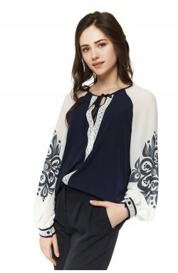 Блуза Pretty Woman 296-PW01 - Синий