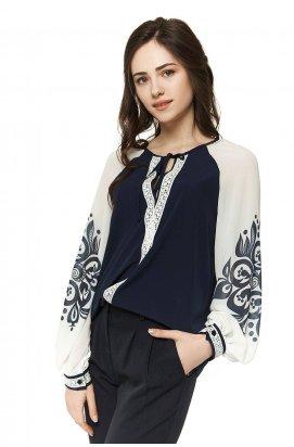 Блуза 296-PW01 - Синий