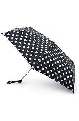 Зонт женский Fulton Miniflat-2 L340 White Spot (Белый горох)