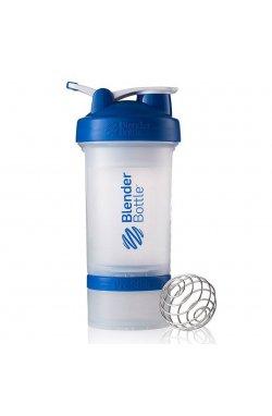Шейкер спортивный BlenderBottle ProStak с шариком 650 мл Прозрачный-Синий