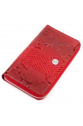 Гаманець-клатч жіночий KARYA 17070 шкіряний Червоний Червоний