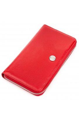Кошелек-клатч женский KARYA 17073 кожаный Красный Красный
