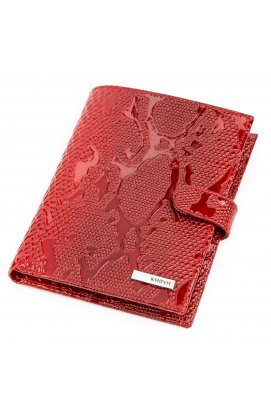 Портмоне вертикальное KARYA 17118 кожа Красное Красный