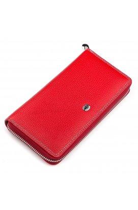 Кошелек женский ST Leather 18376 (SB71) кожаный Красный Красный