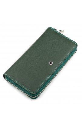 Гаманець жіночий ST Leather 18377 (SB71) оригінальний Зелений