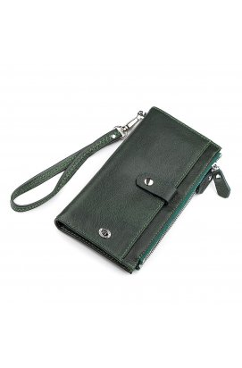 Гаманець жіночий ST Leather 18380 (ST420) шкіряний Зелений