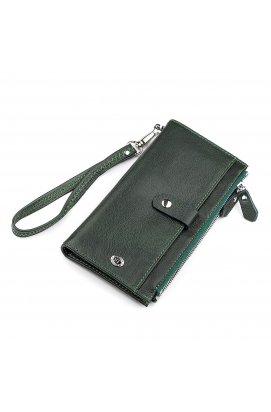 Кошелек женский ST Leather 18380 (ST420) кожаный Зеленый