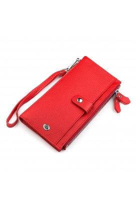 Кошелек женский ST Leather 18381 (ST420) многофункциональный Красный Красный