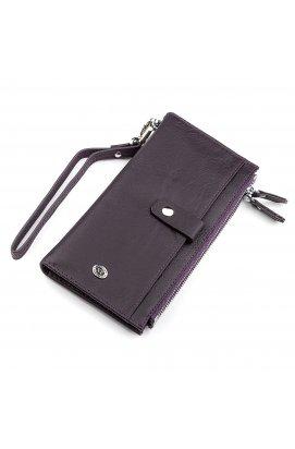 Кошелек женский ST Leather 18384 (ST420) кожаный Фиолетовый