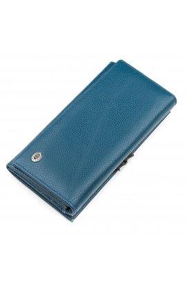 Кошелек женский ST Leather 18402 (ST1518) яркий Голубой