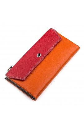 Кошелек женский ST Leather 18406 (SB42-2) многофункциональный Красный Красный