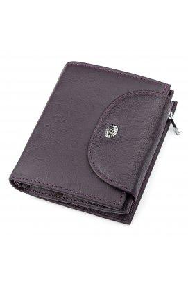 Гаманець жіночий ST Leather 18412 (ST410) з натуральної шкіри Фіолетовий