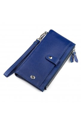 Кошелек женский ST Leather 18416 (ST420) с ремнем на запястье Синий