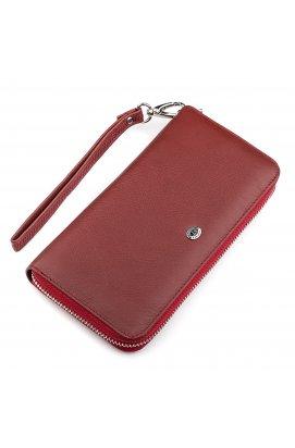 Гаманець жіночий ST Leather 18419 (ST45-2) дуже надійний Бордовий
