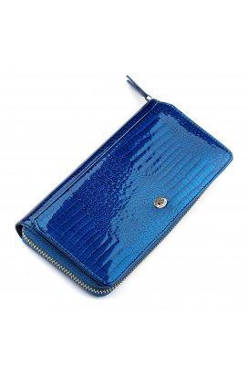 Кошелек женский ST Leather 18435 (S7001A) лакированный Синий