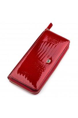 Кошелек женский ST Leather 18436 (S7001A) вместительный Красный Красный