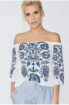 Блуза 601-c01 - Молочный