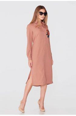 Платье 791-PW02 - Коричневый