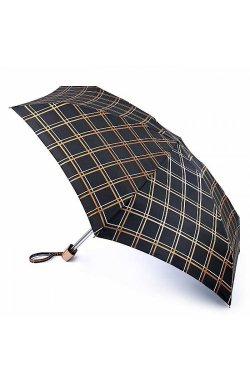 Зонт женский Fulton Tiny-2 L501 Golden Check (Золотая Клетка)