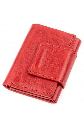 Строгое портмоне женское из гладкой кожи GRANDE PELLE 11153 Красное Красный
