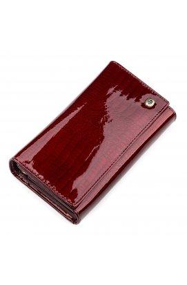 Кошелек женский ST Leather 18429 (S8001A) многофункциональный Бордовый
