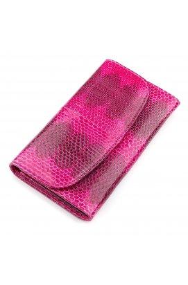 Гаманець жіночий SEA SNAKE LEATHER 18276 з натуральної шкіри морської змії Рожевий