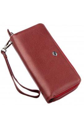 Багатофункціональний гаманець-клатч для жінок ST Leather 18868 Червоний Червоний