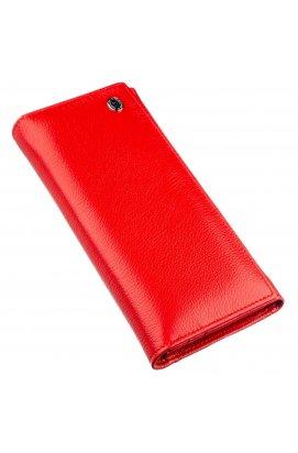 Женский вместительный кошелек ST Leather 18875 Красный Красный