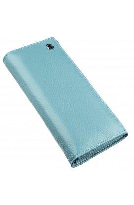 Яскравий гаманець для жінок ST Leather 18876 Блакитний