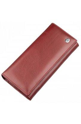 Вместительный женский кошелек ST Leather 18877 Темно-красный Темно-красный