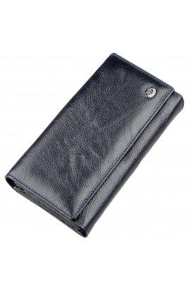 Гаманець-клатч з візитниці ST Leather 18880 Сіро-синій Сіро-синій