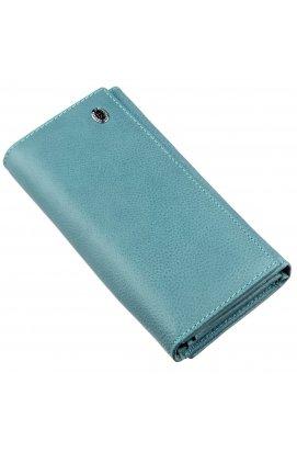 Сучасний жіночий гаманець ST Leather 18883 Блакитний