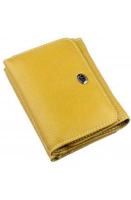 Жіночий шкіряний гаманець в оригінальному кольорі ST Leather 18891 Гірчичний Гірчичний