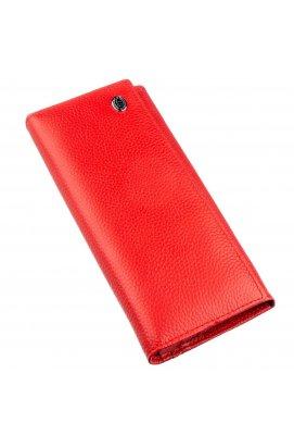 Яркий женский кошелек на кнопке ST Leather 18897 Красный Красный