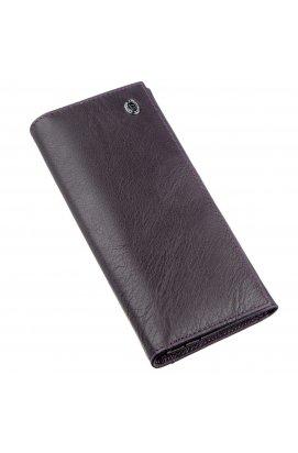 Кошелек для женщин на кнопке ST Leather 18898 Фиолетовый