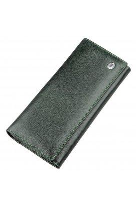 Гаманець для жінок з зовнішнім відділенням ST Leather 18900 Зелений