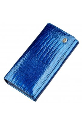 Жіночий лаковий гаманець ST Leather 18901 Синій
