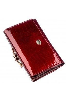 Класичний жіночий гаманець на кнопці ST Leather 18913 Бордовий