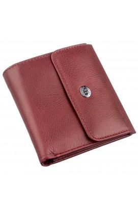 Невеликий жіночий гаманець з монетницьою ST Leather 18920 Бордовий