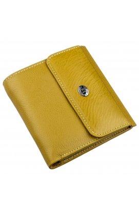 Оригінальний жіночий гаманець з монетницьою ST Leather 18922 Гірчичний Гірчичний